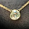 1.02ct Antique Heart Diamond Bezel Pendant 14