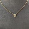 1.02ct Antique Heart Diamond Bezel Pendant 17