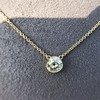 1.02ct Antique Heart Diamond Bezel Pendant 15