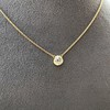 1.02ct Antique Heart Diamond Bezel Pendant 18