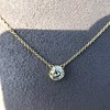 1.02ct Antique Heart Diamond Bezel Pendant 17