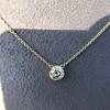 1.02ct Antique Heart Diamond Bezel Pendant 15