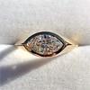 1.02ct Marquise Cut Diamond Ring GIA E VS2 0