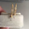 1.08ctw French Cut and Briolette Diamond Ear Pendants 30