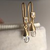 1.08ctw French Cut and Briolette Diamond Ear Pendants 8