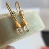 1.08ctw French Cut and Briolette Diamond Ear Pendants 21