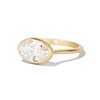 1.17ct Antique Moval Cut Diamond Bezel Ring, GIA E SI1 0