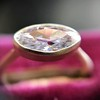 1.17ct Antique Moval Cut Diamond Bezel Ring, GIA E SI1 9