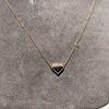 1.32ct Vintage Sapphire Bezel Necklace 15