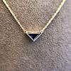 1.32ct Vintage Sapphire Bezel Necklace 7