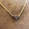 1.32ct Vintage Sapphire Bezel Necklace 9