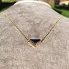 1.32ct Vintage Sapphire Bezel Necklace 0