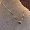 1.32ct Vintage Sapphire Bezel Necklace 3
