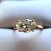 1.64ct Antique Oval Cut Diamond Solitaire GIA M VVS2 7