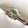 1.64ct Antique Oval Cut Diamond Solitaire GIA M VVS2 3
