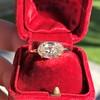 1.64ct Antique Oval Cut Diamond Solitaire GIA M VVS2 13