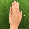 1.64ctw Tycoon Cut Diamond Trilogy Ring, GIA G VVS1 13