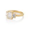 1.64ctw Tycoon Cut Diamond Trilogy Ring, GIA G VVS1 1