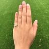 1.64ctw Tycoon Cut Diamond Trilogy Ring, GIA G VVS1 10