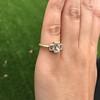 1.64ctw Tycoon Cut Diamond Trilogy Ring, GIA G VVS1 11