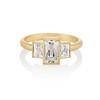 1.64ctw Tycoon Cut Diamond Trilogy Ring, GIA G VVS1 0