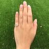 1.64ctw Tycoon Cut Diamond Trilogy Ring, GIA G VVS1 14