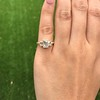 1.64ctw Tycoon Cut Diamond Trilogy Ring, GIA G VVS1 12