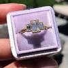 1.64ctw Tycoon Cut Diamond Trilogy Ring, GIA G VVS1 8