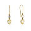 1.69ctw Fancy Yellow Pear Shaped Diamond Ear Pendants 0