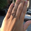 1.96ctw Fancy Golden Brown Hexagon Diamond and Baguette Trilogy Ring 7