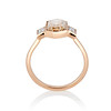 1.96ctw Fancy Golden Brown Hexagon Diamond and Baguette Trilogy Ring 2