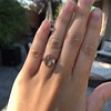 1.96ctw Fancy Golden Brown Hexagon Diamond and Baguette Trilogy Ring 20