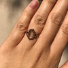 1.96ctw Fancy Golden Brown Hexagon Diamond and Baguette Trilogy Ring 25