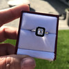 1.19ct Vintage Emerald Cut Diamond Onyx Ring, GIA E VS2 32