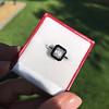 1.19ct Vintage Emerald Cut Diamond Onyx Ring, GIA E VS2 12