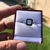 1.19ct Vintage Emerald Cut Diamond Onyx Ring, GIA E VS2 29