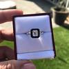 1.19ct Vintage Emerald Cut Diamond Onyx Ring, GIA E VS2 30