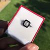 1.19ct Vintage Emerald Cut Diamond Onyx Ring, GIA E VS2 13
