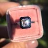 1.19ct Vintage Emerald Cut Diamond Onyx Ring, GIA E VS2 33
