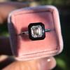 1.19ct Vintage Emerald Cut Diamond Onyx Ring, GIA E VS2 39