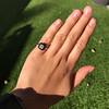 1.19ct Vintage Emerald Cut Diamond Onyx Ring, GIA E VS2 8