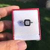1.19ct Vintage Emerald Cut Diamond Onyx Ring, GIA E VS2 21