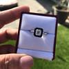 1.19ct Vintage Emerald Cut Diamond Onyx Ring, GIA E VS2 27