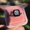 1.19ct Vintage Emerald Cut Diamond Onyx Ring, GIA E VS2 6