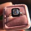 1.19ct Vintage Emerald Cut Diamond Onyx Ring, GIA E VS2 41