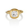 2.05ct Antique Cushion Cut Diamond Chunky Bezel with pave setting GIA J SI2 0