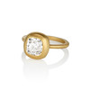 2.05ct Antique Cushion Cut Diamond Chunky Bezel with pave setting GIA J SI2 1
