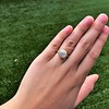 2.05ct Antique Cushion Cut Diamond Chunky Bezel with pave setting GIA J SI2 4