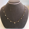 3.40ctw Floral Motif Old Mine Cut Diamond Necklace 3