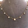 3.40ctw Floral Motif Old Mine Cut Diamond Necklace 8